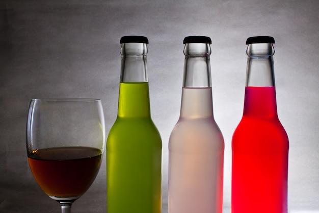 Wina białe cienia duży zbiór