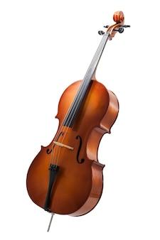Wiolonczela lub skrzypce na białym tle