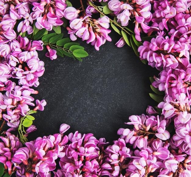 Wiosenne kwiaty akacji