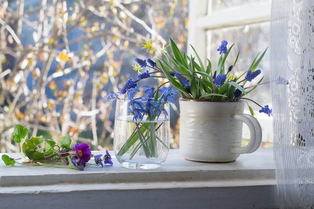 Wiosenne kwiaty na indowsill