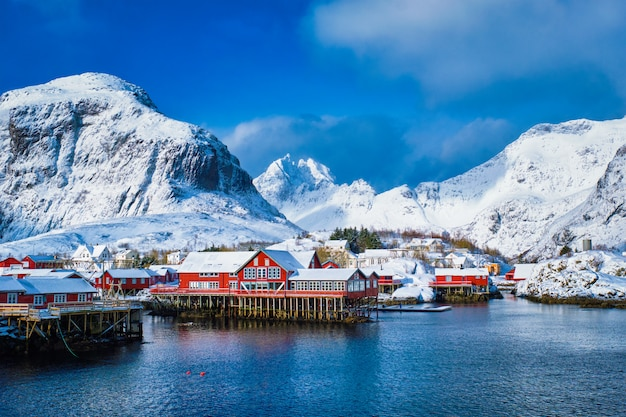 """Wioska """"a"""" na lofotach w norwegii"""