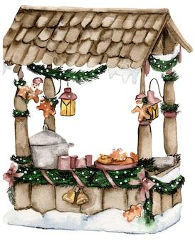 Wioska bożonarodzeniowa z gnomami