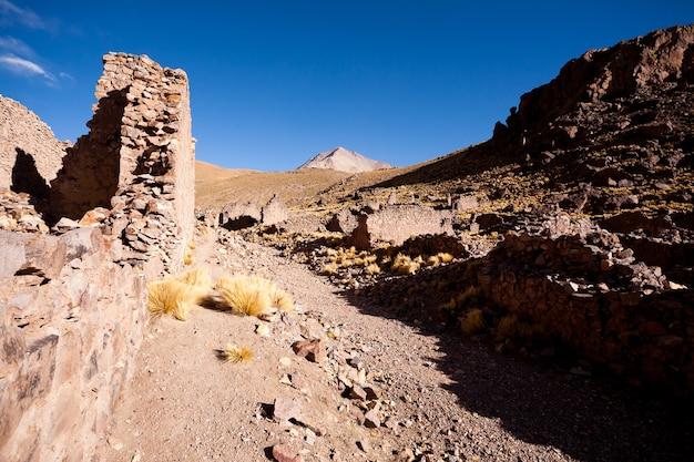 Wioska duchów na płaskowyżu andyjskim