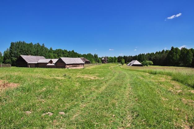 Wioska ozertso w kraju białoruś