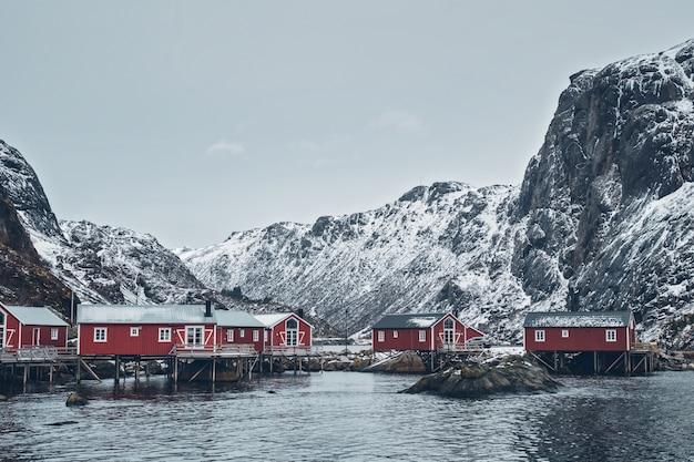 Wioska rybacka nusfjord w norwegii