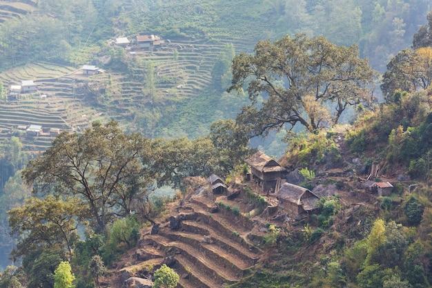 Wioska w nepalskich górach