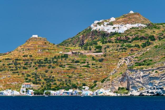 Wioski klima i plaka na wyspie milos w grecji