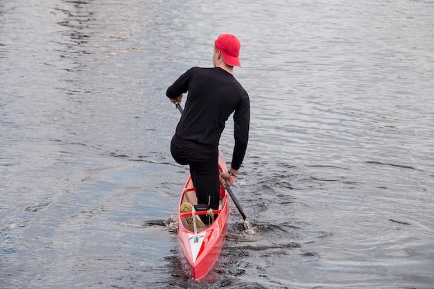 Wioślarstwo człowiek sportu konkurencji na rzece