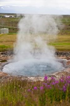 Wiosna geotermalna na islandii