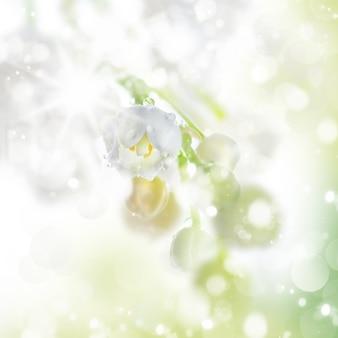 Wiosna w kolorze białym i jasnozielonym