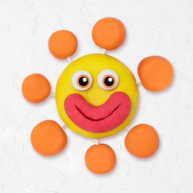Wirus covid-19 glina postać śliczna ręcznie robiona sztuka kreatywna dla dzieci