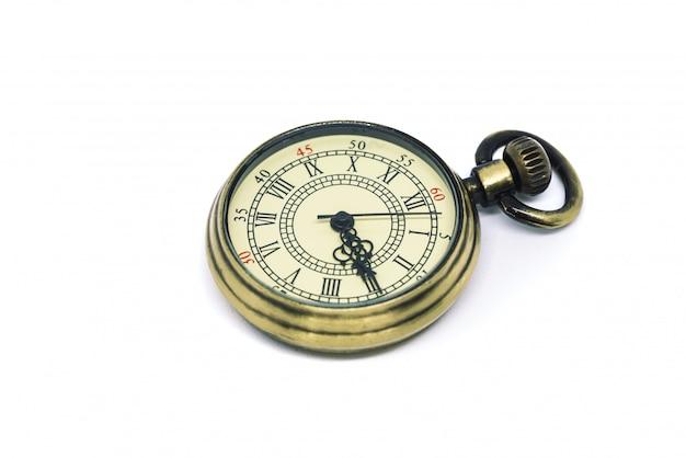 Wisiorek zegarek samodzielnie na białym tle