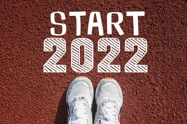 Witamy w koncepcji szczęśliwego nowego roku 2022