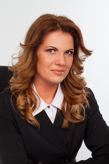 Wizerunek atrakcyjny caucasian bizneswoman