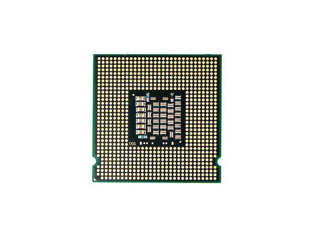 Wizerunek procesor procesora układ scalony na bielu