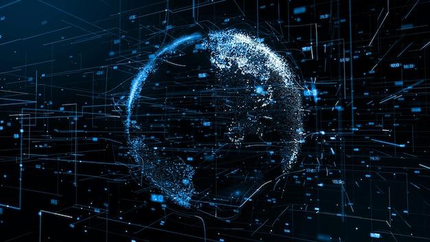 Wizualizacja globalnego połączenia sieciowego