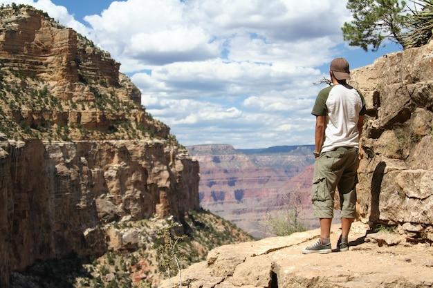 Wizyta tylnego turysty grand canyon