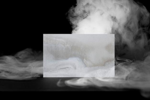Wizytówka, abstrakcyjny dym z przestrzenią projektową