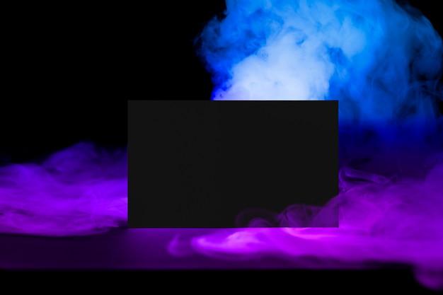 Wizytówka, estetyczny dym z przestrzenią projektową