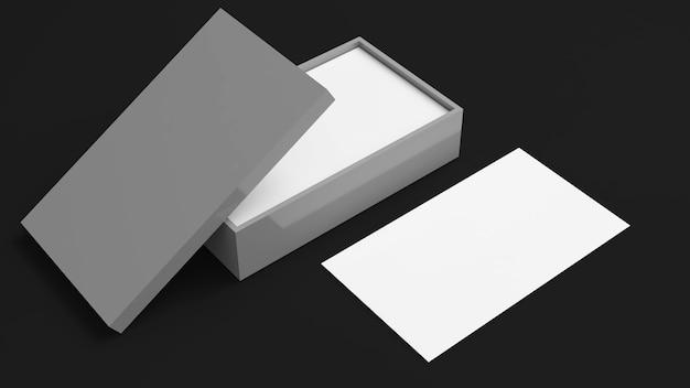 Wizytówka na czarnym tleszablon marki tożsamości kartymakieta wizytówki