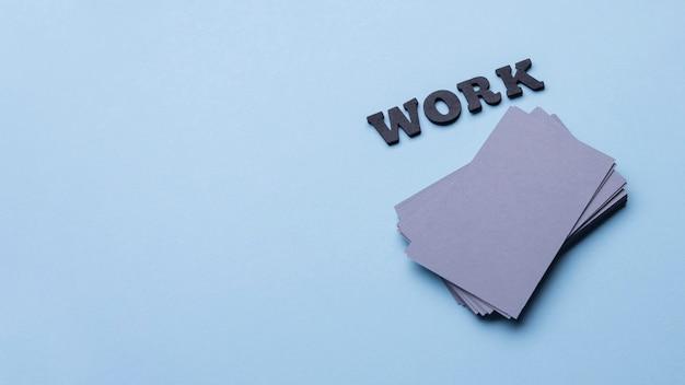 Wizytówki firmowe do miejsca kopiowania pracy