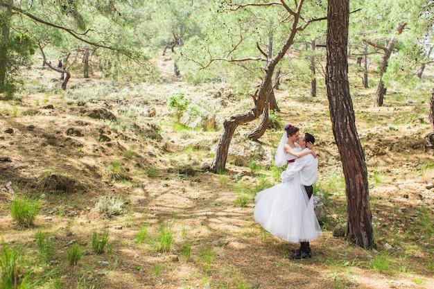 Właśnie małżeństwo się objęło