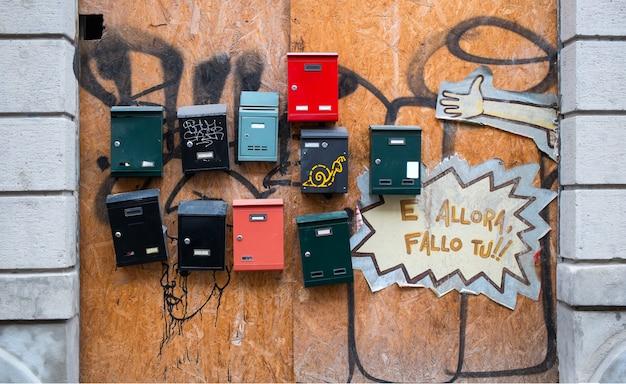 Włoskie skrzynki pocztowe