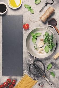 Włoskie tło gotowania