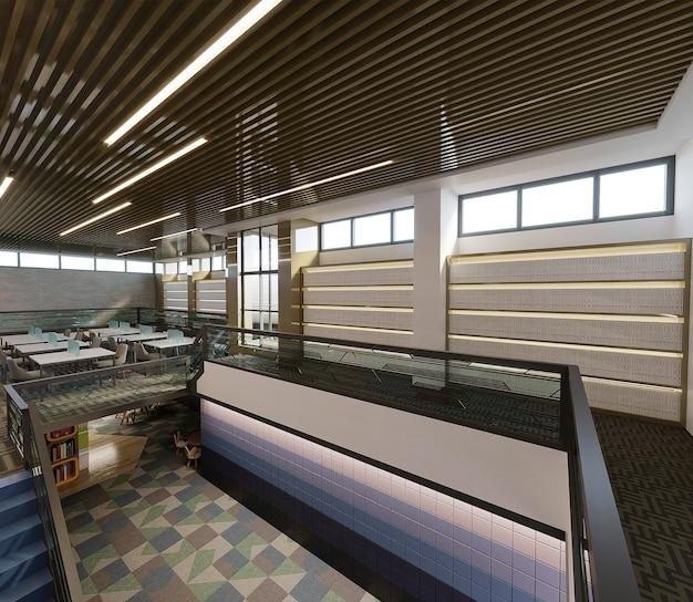 Wnętrze biblioteki projektu, renderowania 3d