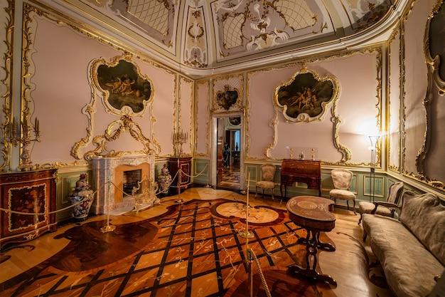 Wnętrze chińskiego pałacu 1762 oranienbaum sankt petersburg rosja
