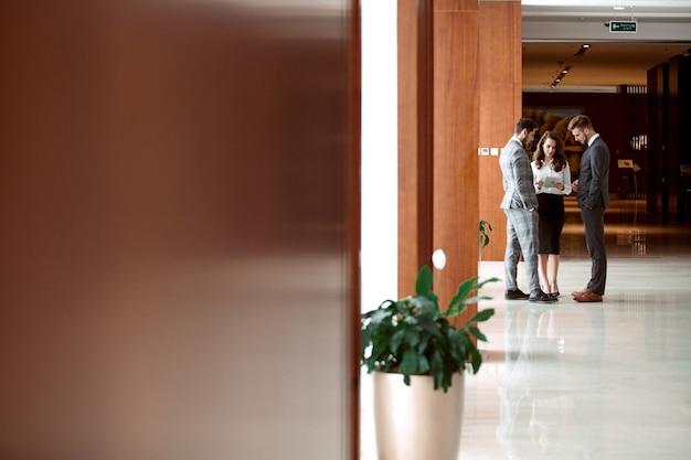 Wnętrze foyer zajęty biuro z przedsiębiorców.