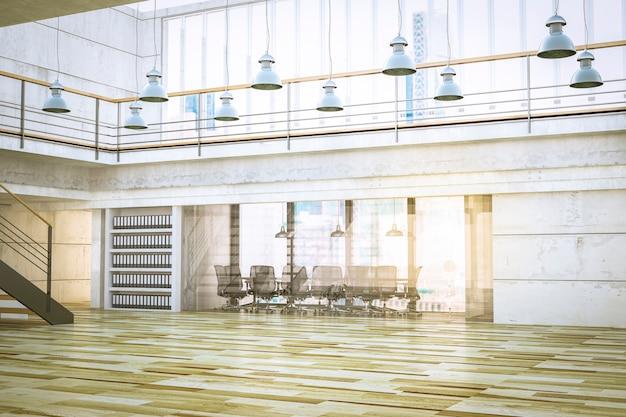 Wnętrze hali biurowej