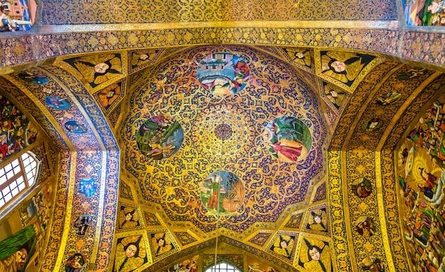 Wnętrze katedry vank w isfahanie w iranie
