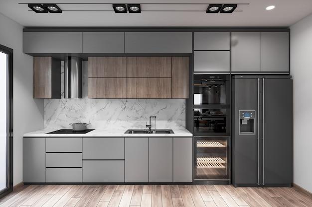 Wnętrze kuchni w nowoczesnym domu