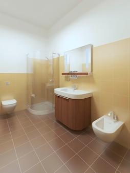 Wnętrze łazienki w stylu współczesnym