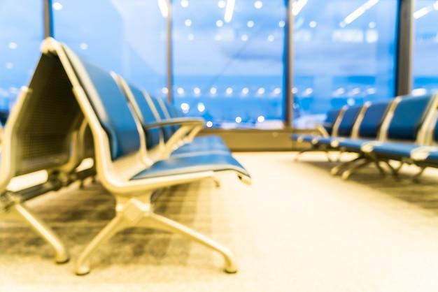 Wnętrze lotniska rozmycie streszczenie