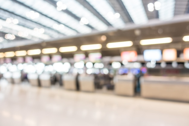 Wnętrze lotniska streszczenie rozmycie
