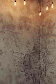 Wnętrze mieszkania z suchymi gałęziami