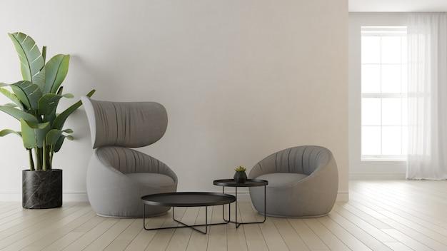 Wnętrze nowoczesnego salonu renderowania 3 d