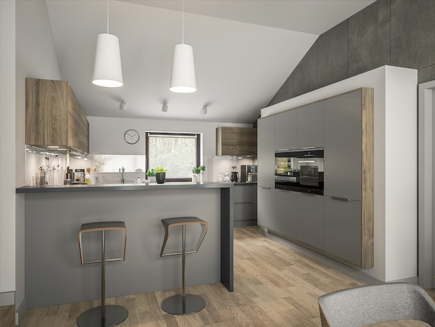 Wnętrze nowoczesnej kuchni