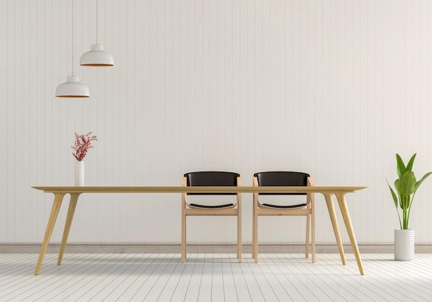 Wnętrze nowoczesny pokój w stylu minimal
