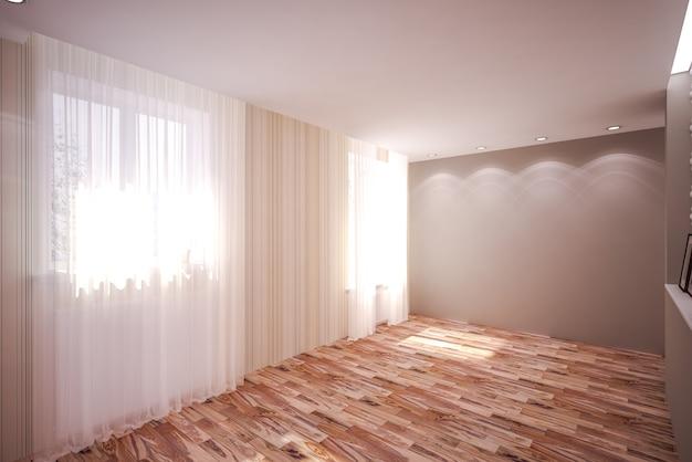 Wnętrze pokoju w nowoczesnym stylu. projektowanie wnętrz
