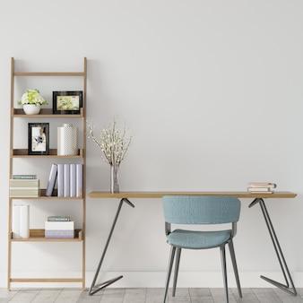 Wnętrze pokoju z biurkiem do nauki