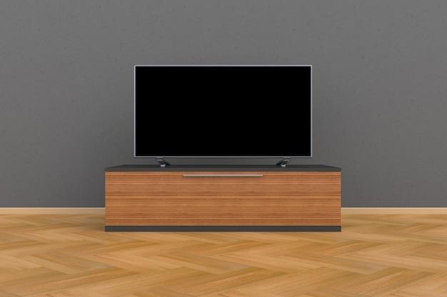 Wnętrze pustego pokoju z telewizorem