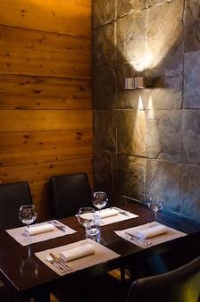 Wnętrze restauracji strzału