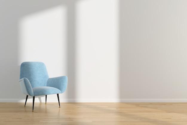 Wnętrze salonu lato skandynawskie ściany tło podłogi z drewna