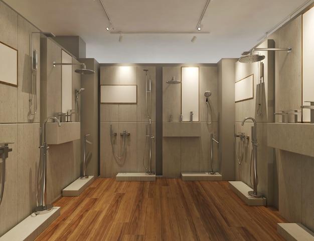 Wnętrze salonu nowoczesnej łazienki