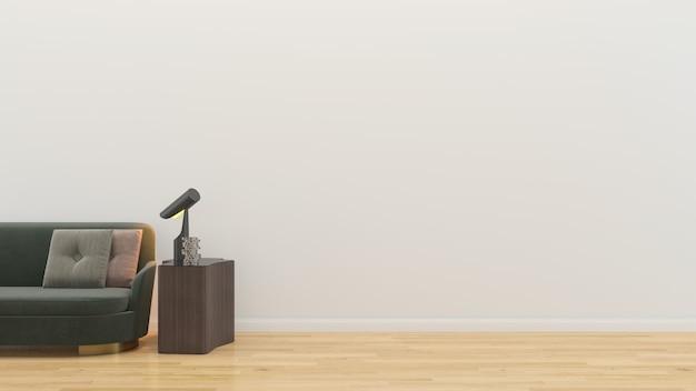 Wnętrze salonu w pustym domu