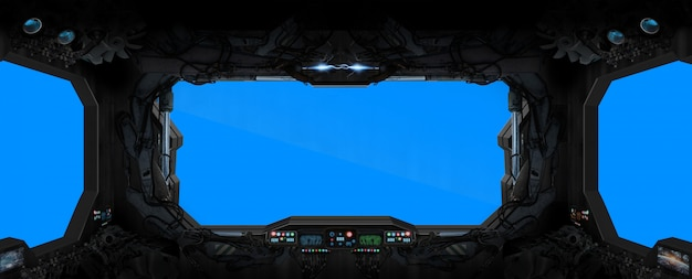 Wnętrze stacji kosmicznej
