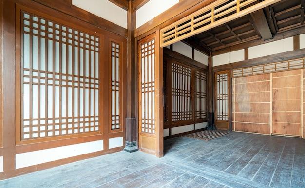 Wnętrze starożytnych budynków z chińskich dynastii qin i han